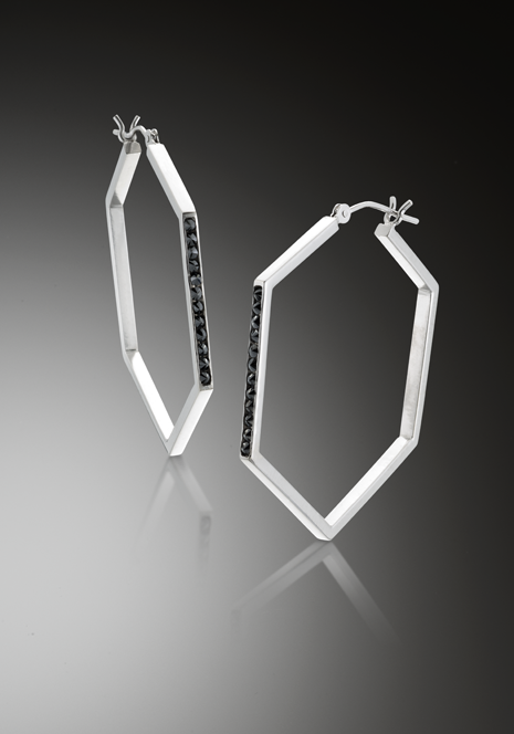 Jeannie Hwang Eclipse Hex Hoops