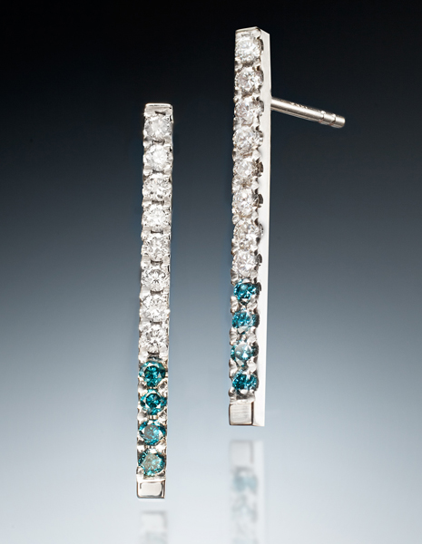 Icicle Earrings (White & Blue)