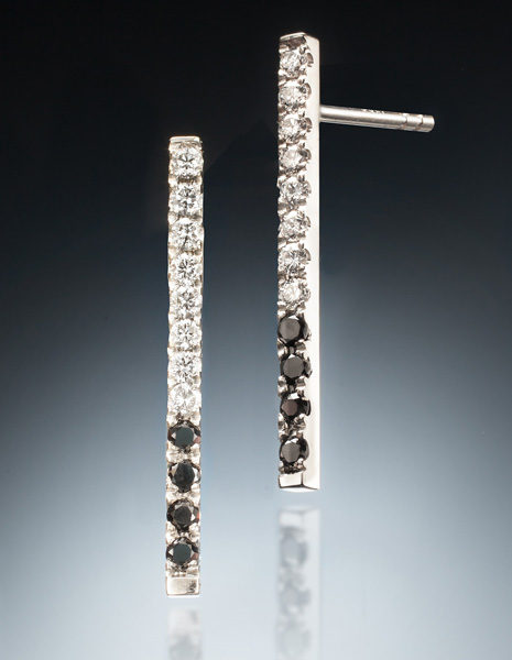 Icicle Earrings White & Black